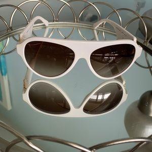 White Versace sunglasses for women